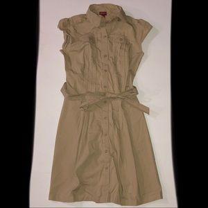 NWOT Khaki Button Up Dress